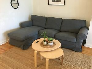 Sectional gray sofa perfect condition!