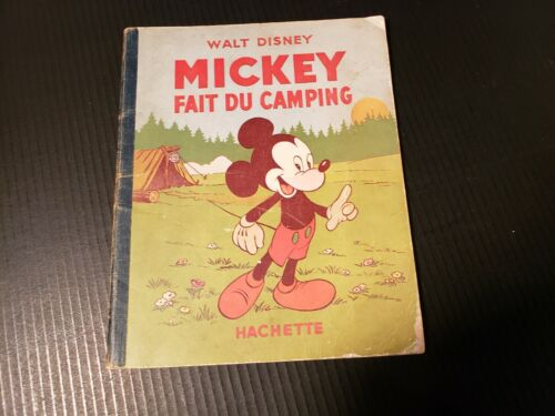Vintage 1933 1949 French Comic Book Mickey Fait Du Camping Mickey Mouse Disney