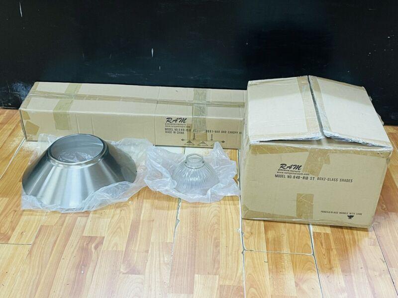 Black & Silver Ram B48-RIB Game Room Pool Table Canopy Wood Light Fixture Kit (B