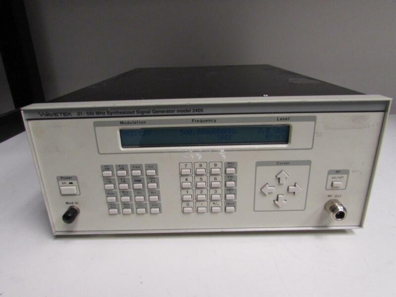 WaveTek 2405 Synthesized Signal Generator, .01 - 550 MHz