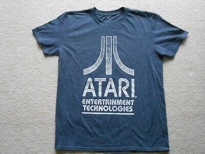 Retro Atari Entertainment Technologies Men's Sz Large Graphic T-Shirt Gray