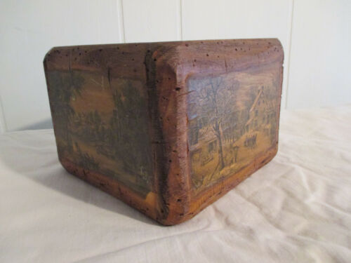 Antique/Vintage Rustic Handmade Wooden Planter/Box with Colonial