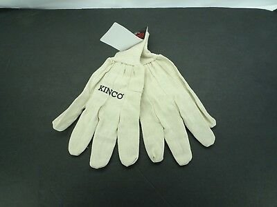 Kinco 808 Canvas Chore Glove with Knit Wrist / White / T2