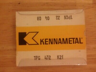 5 Pcs. Tpg 432 Kennametal K21 Carbide Inserts