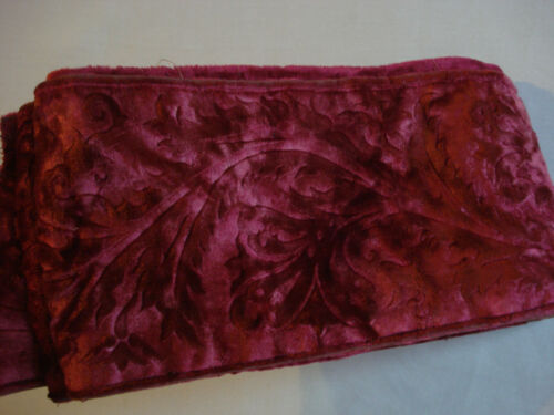 "antique ""cut""  silk velvet border length  2 yards 13"" x 5"""