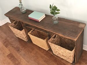 Rustic Sofa Table / Shelving Unit (Can Deliver)