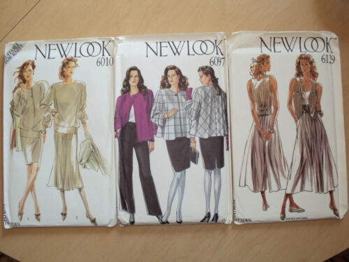 New Look Sewing Patterns #6010 #6097 #6129 Misses Women's Sizes 8-18 Tops Skirts
