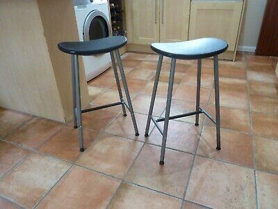 Bar, breakfast bar stool, two sold as a pair. Ikea Sune. Retro skandi design.