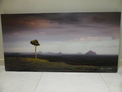 Signed One Tree Hill Maleny Photo Canvas by Sharon Wellings