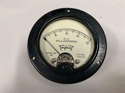 Vintage Triplett Model 321 0-200 Dc Milliamperes Panel Gauge Meter A4