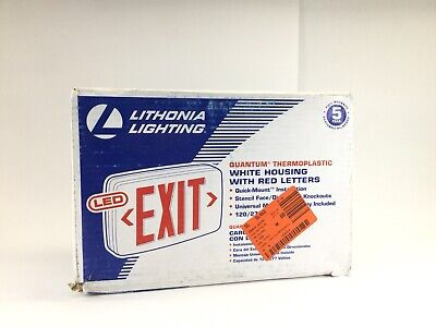 2pk Lithonia Lightingquantum Quickmount Led Red Exit