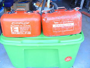 2- OMC gas cans hoses not included $25 each