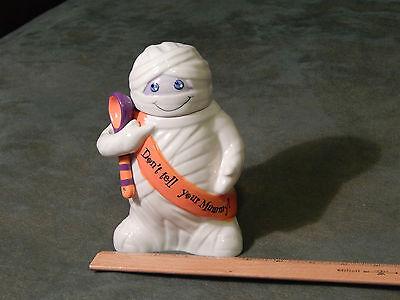 """""""Don't Tell Your..."""" Mummy Treat Jar w/ Lid & Spoon [Current] Colorado_USA_Ltd."""