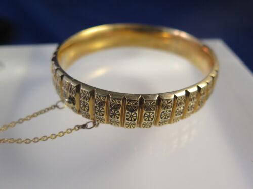 Antique Victorian 15K Gold Hinged Bangle Bracelet, 20.3 grams (#15)