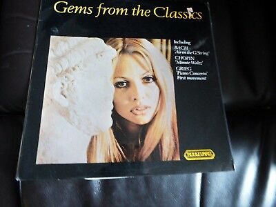 GEMS FROM THE CLASSICS LP Record Cheesecake Cover Bach, Chopin, Grieg