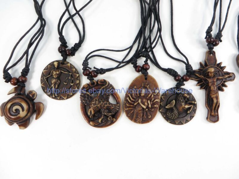 20 pieces hippie gothic rock punk pendant necklaces wholesale jewelry lot