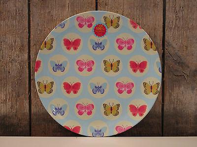 Ginger - Melamin Plate - Teller - butterfly blue - Schmetterlinge - blau gelb