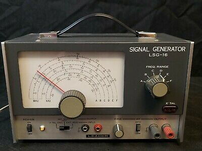 Leader Electronics Lsg-16 Signal Generator Ham Radio Electronic Test Equipment