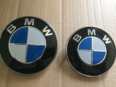 NEW X2 BMW BONNET  BOOT BADGE EMBLEM 74  82MM E30 E36 E46 E39 E60 1 3 5 7