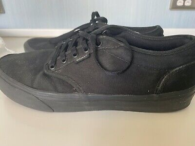 Vans Atwood Black Monochrome Women's Canvas Trainers UK Size 7