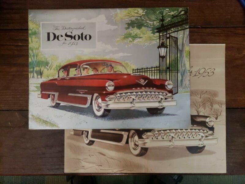 1953 DeSoto Powermaster 6 Firedome Hemi V8 Full Line Brochure TWO BROCHURES