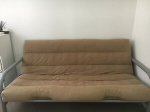 Futon 47 Fold Down Bed Br Some Rust On Feet But Frame Otherwise Clean Condition Mattress Always Used With Sheet Or Covers Does