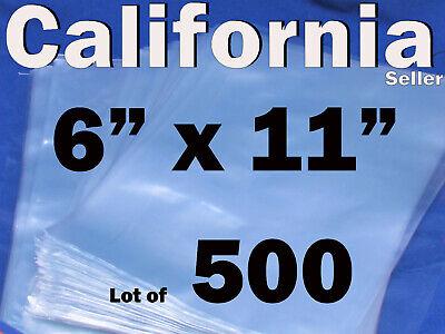 Lot Of 500 Pieces Heat Shrink Wrap Film Flat Bags 6x11 Candles Pvc 6 X 11