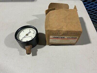 Ametek Pressure Gauge P733 2-12 Diameter 0-15 Inches Water Nos