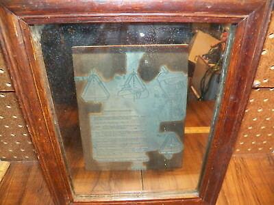 Vintage Wood Lead Printers Block 9x11 - Application Instructions