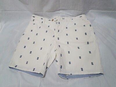 Used, Zara Man Pinnaple Print Shorts White EU 44 US 34 for sale  Oceanside