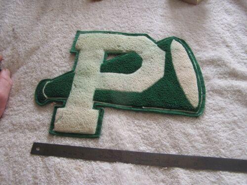 """Vintage """" P """" Cheerleader Letterman Megaphone Jacket Patch"""