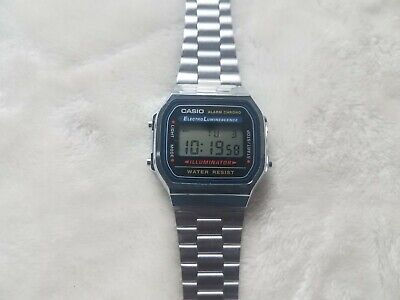 Casio Illuminator 3298 A168 Alarm Chronograph Electro Luminescence Digital Watch