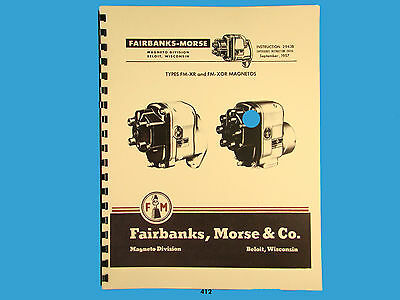 Fairbanks Morse Magneto Instruct Parts Manual For Fm-xr Fm-x Or Mags 412