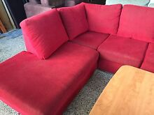 Red fabric Corner Lounge chaise Plumpton Blacktown Area Preview