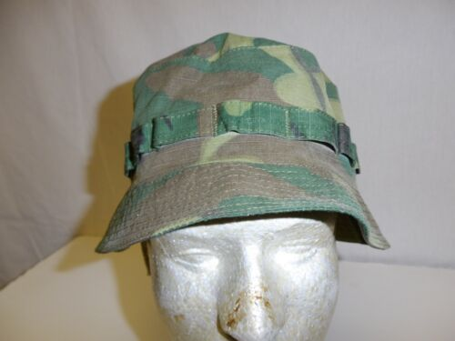 e2962-L US Military Vietnam ERDL Camouflage Boonie Hat size Large W11C