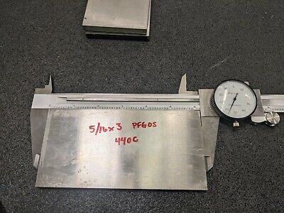 440c Stainless Bar Flat Stock 516 X 3 X 5.75 Precision Marshall