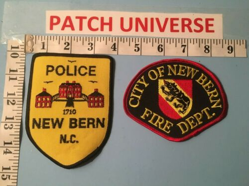 TWO DIFFERENT NEW BERN POLICE/FIRE  SHOULDER  PATCHES   L134