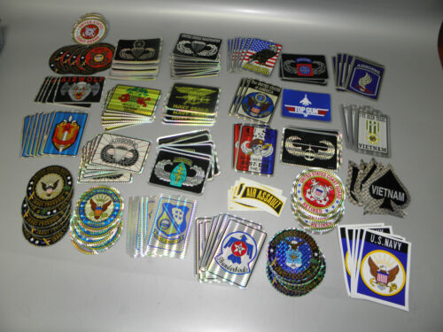 """LOT OF 158 MILITARY DECALS 3"""" - 4"""" NEW"""