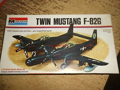 Monogram Twin Mustang F-82G Model Unstarted in Box 1/72, used for sale  Schererville