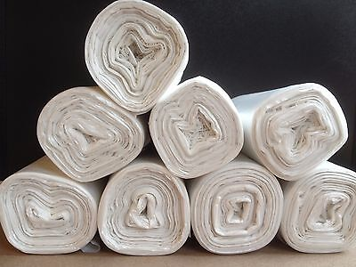 High-Density Can Liner, 20 x 22, 7-Gallon, 6 Micron, Natural, 8 Rolls of 50 bag