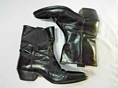 TRUE VINTAGE - MEN'S ACME GENUINE ALL LEATHER WESTERN SHORTY COWBOY BOOTS 11 D