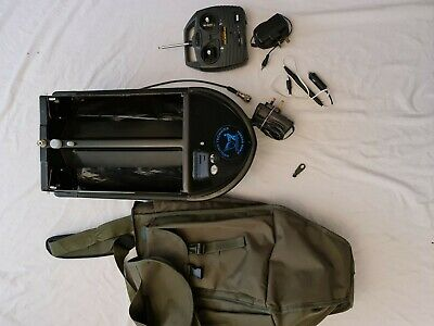 Angling Technics bait boat with torch unit and wall plug and bag
