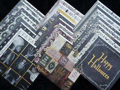 12x12 Scrapbook Paper Cardstock Halloween Moonlit Manor Spooky Xray Skeletons 24 Cardstock 12x12 Scrapbook Paper