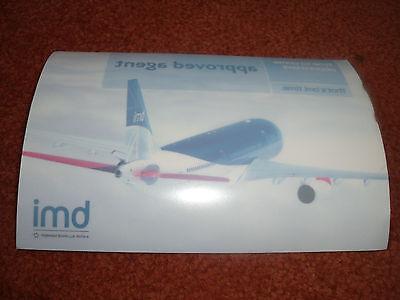 RARE AIRLINE BMI  A-320 TRAVEL AGENTS WINDOW STICKER - UNUSED