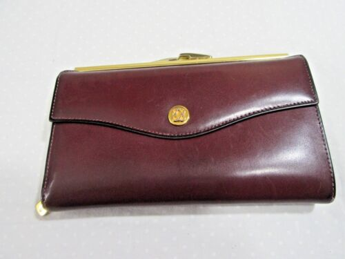 Bosca Brown Calfskin Clutch Wallet w/Snap Change Purse