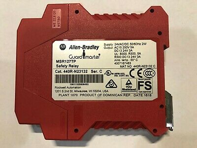 Allen Bradley Guardmaster Msr127tp 24 V Acdc Safety Relay Cat. 440rn23132