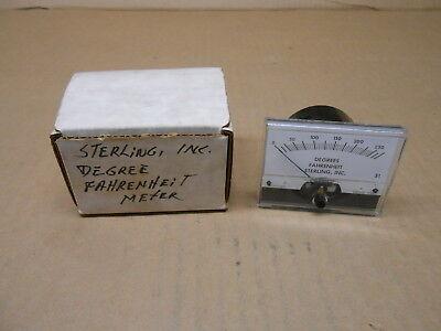 1 Nib Sterling Inc 821988 930032-1497 Degree Fahrenheit Meter 0-250 Deg Panel Mt