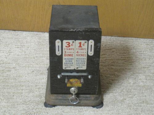 Schermack Nickel & Dime Postage Stamp Vending Machine - Countertop Model - 1950s