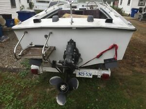 69 17 foot searay srv 170 boat motor trailer