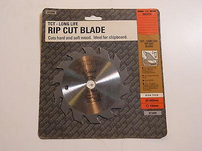 Black Decker Tct Circular Saw Blade 140mm 16mm Bore 14 Tooth X13205